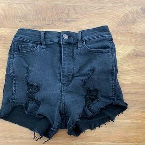 Ultra high rise shorts